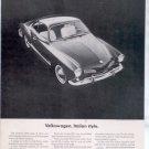 1964 VW VOLKSWAGEN KARMANN GHIA CAR AD