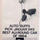 1964 1965 JAGUAR XK-E XKE VINTAGE CAR AD