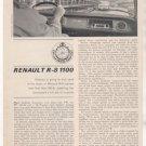 1964 RENAULT R-8 R8 1100 ROAD TEST CAR AD