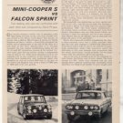 1964 MINI COOPER S FALCON SPRINT ROAD TEST CAR AD