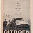 1958 CITROEN VINTAGE CAR AD