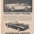 1958 SUNBEAM RAPIER VINTAGE CAR AD