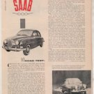1958 SAAB VINTAGE ROAD TEST 4-PAGE