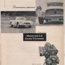 1958 MASERATI GRAN TURISMO 3.5 VINTAGE CAR DRIVER AD