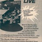 1977 THE MOODY BLUES LIVE POSTER TYPE  AD