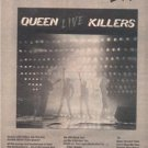 1979 QUEEN LIVE KILLERS POSTER TYPE  AD