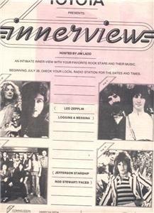 1975 LED ZEPPELIN INNERVIEW ROD STEWART POSTER TYPE  AD