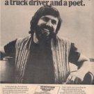 1974 KRIS KRISTOFFERSON SPOOKY LADYS POSTER TYPE  AD