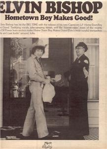 1976 ELVIN BISHOP HOME TOWN BOY POSTER TYPE  AD