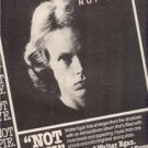 1978 WALTER EGAN NOT SHY POSTER TYPE AD