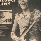 ROBIN TROWER LIVE POSTER TYPE PROMO AD 1976