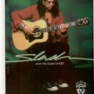 SLASH GUNS N ROSES GUILD D-100  PROMO AD 1998