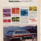 1969 DODGE MONACO WAGON VINTAGE CAR AD