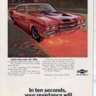 1970 CHEVY CHEVELLE SS 396 VINTAGE CAR AD
