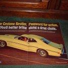 1970 MERCURY CYCLONE SPOILER CJ 429 VINTAGE CAR AD