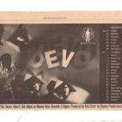 1979 DEVO TOUR CONCERT POSTER TYPE AD