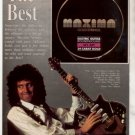 1991 BRIAN MAY QUEEN MAXIMA GUITAR STRINGS AD