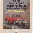 1966 1967 JEEP WAGONEER VINTAGE CAR AD