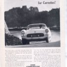 1957 CHEVY CORVETTE VINTAGE CAR AD