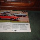 1968 CHEVY CHEVELLE SS CAMARO SS CORVETTE CAR AD