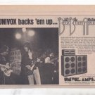 1973 JEFF BECK UNIVOX AMPS POSTER TYPE AD