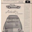 1962 1963 STUDEBAKER AVANTI VINTAGE CAR AD