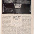 1962 TRIUMPH 1200 ROAD TEST CAR AD