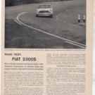 1962 FIAT 2300S 2300 S ROAD TEST CAR AD