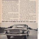 1962 1963 DODGE DART 440 VINTAGE CAR AD