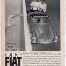 1962 1963 FIAT VINTAGE CAR AD