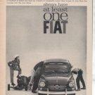 1962 1963 FIAT VINTAGE CAR AD 3-PAGE