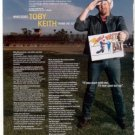 TOBY KEITH PHOTO AD PLUS INTERVIEW 1- PAGE