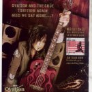 * MOTLEY CRUE RED WHITE AND CRUE PROMO AD