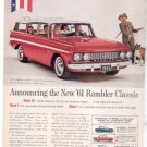 * 1961 RAMBLER CLASSIC WAGON PHOTO PRINT AD