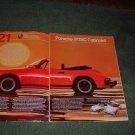1983 PORSCHE 911SC 911 SC CABRIOLET CAR AD 2-PAGE