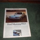 1983 FORD MUSTANG PREVIEW TEST-ROAD TEST AD