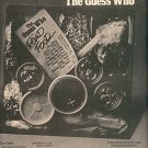 THE GUESS WHO ROAD FOOD POSTER TYPE PROMO AD 1974