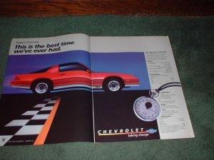 1983 1984 CHEVY CAMARO Z-28 CAR AD Z28 2-PAGE