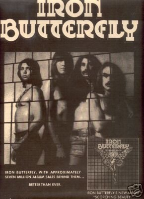 IRON BUTTERFLY SCORCHING BEAUTY PROMO AD 1975