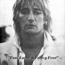 ROD STEWART FOOT LOOSE POSTER TYPE PROMO AD 1977