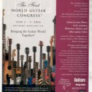 * THE FIRST WORLD GUITAR CONGRESS AD