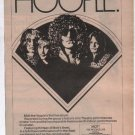 * 1974 MOTT THE HOOPLE LIVE PROMO PRINT PHOTO AD