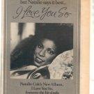 * 1979 NATALIE COLE I LOVE YOU SO PROMO PRINT AD