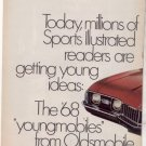 1968 OLDSMOBILE CUTLASS S VINTAGE CAR AD 2-PAGE