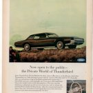 1967 FORD THUNDERBIRD VINTAGE CAR AD