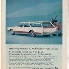 1967 OLDSMOBILE VISTA CRUISER WAGON CAR AD