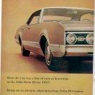 1967 OLDSMOBILE DELTA 88 VINTAGE CAR AD 2-PAGE
