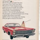 1967 FORD GALAXIE 500 XL VINTAGE CAR AD