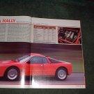 1984 LANCIA RALLY ORIGINAL ROAD TEST 4-PAGE