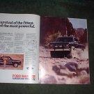 1984 1985 FORD RANGER 4X4 4 X 4 VINTAGE TRUCK CAR AD